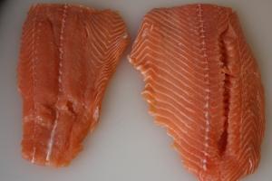 Salmon slabs