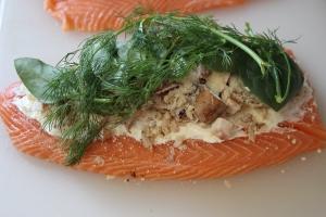 Loaded side of salmon